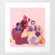 X-Men Young Mutants // The Breakfast Club Art Print