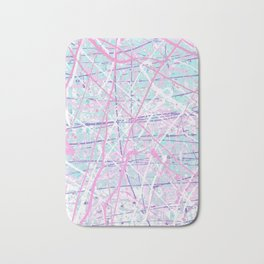 Flight of Color - pink turquoise Bath Mat