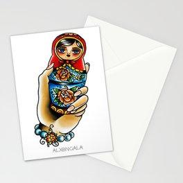 Hand Holding Matryoshka Stationery Cards