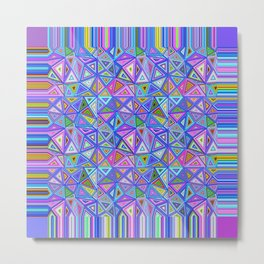 Patchwork Triangles Metal Print