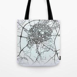 Jerez de la Frontera, Spain, White, City, Map Tote Bag