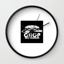 CHEFS KNIFE CHOP Wall Clock