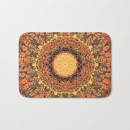 Marigold Mandala Bath Mat