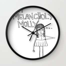Melancholy Molly Wall Clock