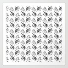 Birds & Trees Pattern Art Print