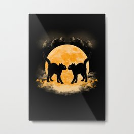 Black Cats Paradise Metal Print