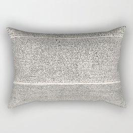 The Rosetta Stone // Antique White Rectangular Pillow