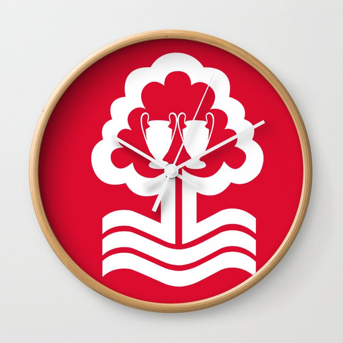 nottingham forest fc wall clockkhaledalrawaf | society6