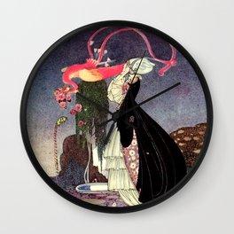 "Kay Nielsen Illustration from ""Powder and Crinoline"" Wall Clock"