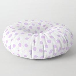 Dots painted polka dot pattern minimal lavender nursery basic minimalist Floor Pillow