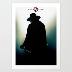 V for Vendetta (e4) Art Print