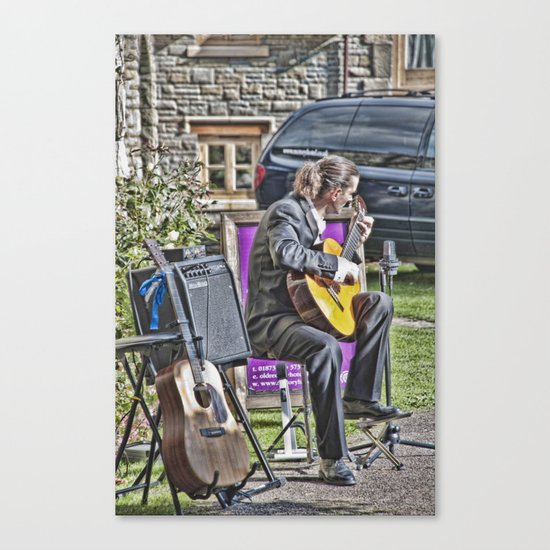 While My Guitar Gently Weeps 2 Canvas Print