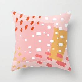 Abstract Pattern Mix Throw Pillow