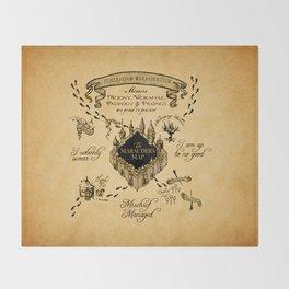 Marauders Map Throw Blanket