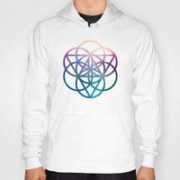 sacred geometry Hoodies featuring Sacred Geometry Universe by Nick Kask Design Co