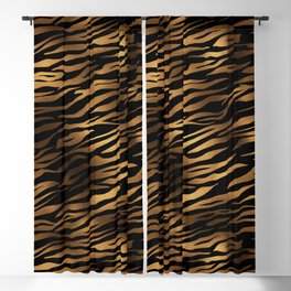 Gold and black metal tiger skin Blackout Curtain