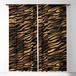 Gold and black metal tiger skin Blackout Curtain