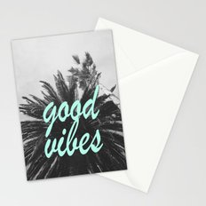 good vibes palm tree Stationery Cards
