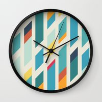 quilt Wall Clocks featuring Quilt by Evan Hinze