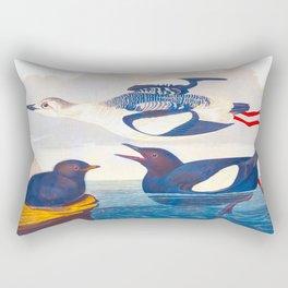 Black Guillemot Duck Rectangular Pillow