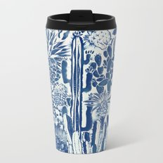 Indigo cacti II Metal Travel Mug