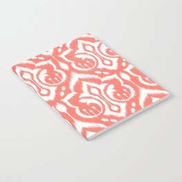 Ikat Damask Coral Notebook