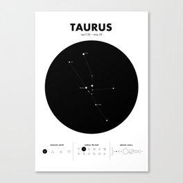 Taurus – Star Constellation Canvas Print