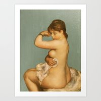 degas Art Prints featuring Degas After the Bath 1 by FlightsofColor