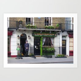 Sherlock Holmes Museum London Art Print