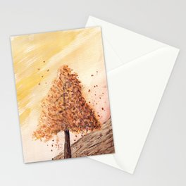 Autumn Tree Landscape Stationery Cards