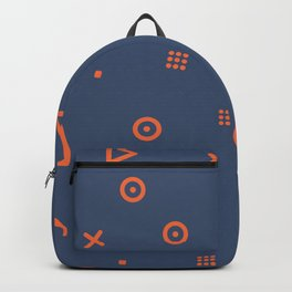 Happy Particles - Dark Blue Backpack