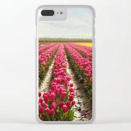 Oregon tulip festival Clear iPhone Case