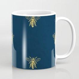 French Bee Pattern Coffee Mug