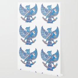 batik culture on garuda silhouette illustration Wallpaper