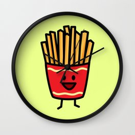 Happy Fries Wall Clock