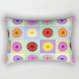 Gerbera Daisies Bright Color Design Rectangular Pillow