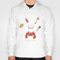 cooking Hoodies featuring Cooking Crab by Schewy
