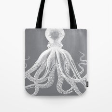 Octopus | Grey and White Tote Bag