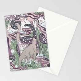 Jurassic Portal | Purple Haze Palette | Dinosaur Science Fiction Art Stationery Cards