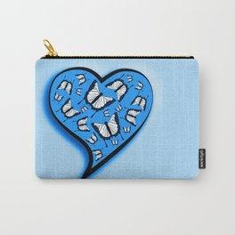 Butterflies in a blue heart Carry-All Pouch
