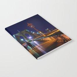 Brooklyn Bridge at Night #2 Notebook