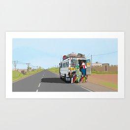 Senegal Bus Art Print