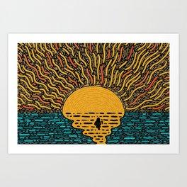 Warm Water Art Print