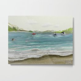 Quiet in the Sound Metal Print