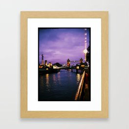 A Purple Point of View Framed Art Print