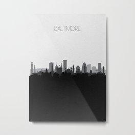 City Skylines: Baltimore (Alternative) Metal Print