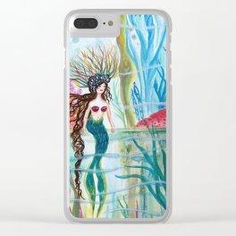 Underwater Garden Clear iPhone Case