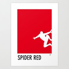 My Superhero 04 SpiderRed Minimal poster Art Print