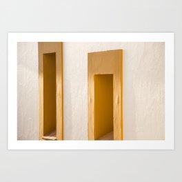 Burgau Windows Art Print