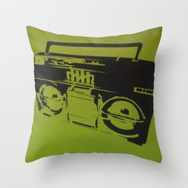 Ghettoblaster Throw Pillow